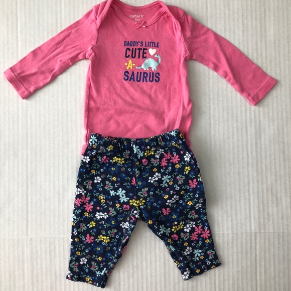 1ec0c941adc32 Carter's Matching Sets | 515 Carters Pink Dinosaur Pant Bodysuit Set ...